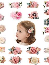 cheap -3pcs/sets Pink Simulation Head Flower Hair Accessories Princess All-match Fresh And Natural Cute Hairpin