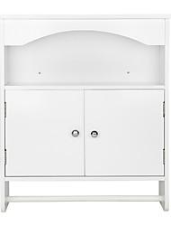 cheap -Bathroom Wall Cabinet Modern White Wood Matrial-1pc Furniture