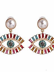 cheap -statement evil eye heart crystal drop earrings colorful rhinestone eyelash cubic zirconia eyeball dangle for women girls elegant jewelry-c pearl
