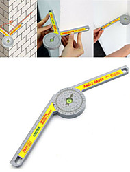 cheap -Portable Miter Saw Protractor Ruler Inclinometer Goniometer Angle Miter Level Multifunction Woodworking Measuring Tool