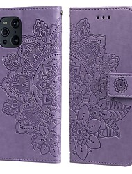 cheap -Mandala Pattern Flip Wallet Leather Case For Oppo Find X3 Find X2 Lite Oppo Reno 4 Oppo Reno 3 OPPO A53 Oppo A92s Oppo A9 A7 Magnetic Stand Flip Full Protective Cover With Card Slot