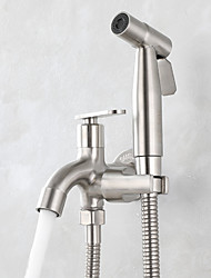 cheap -Single hole Bidet Stainless Steel Self-Cleaning Contemporary / Single Handle One Hole