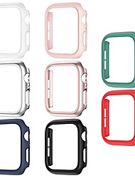 cheap -8 pack matte case compatible with apple watch 44mm se series 6/ 5/ 4, fvlerz hard pc bumper frame shockproof cover all-around protective iwatch accessories