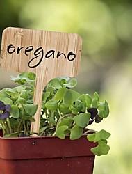 cheap -70 PCS Bamboo Plant Label (6 x 10 cm) with A Pen Vegetable Garden Marker T-Shaped Plant Label
