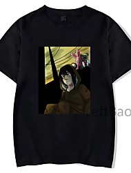 cheap -Inspired by Serial Experiments Lain Cosplay Anime Cartoon Polyester / Cotton Blend Print Harajuku Graphic Kawaii T-shirt For Women's / Men's