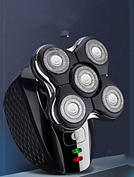cheap -5 in 1 Rechargeable Electric Shaver Five Floating Heads Razors Hair Clipper Nose Ear Hair Trimmer Men Facial Cleaning Brush