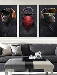 cheap -Wall Art Canvas Prints Painting Artwork Picture HD Animal Gorilla Home Decoration Décor Rolled Canvas No Frame Unframed Unstretched