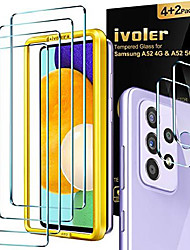 cheap -Phone Screen Protector For SAMSUNG Galaxy A52 Galaxy A72 Galaxy A42 Galaxy A32 5G A51 Tempered Glass 4 pcs High Definition (HD) Scratch Proof Front Screen Protector Phone Accessory