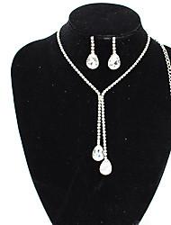cheap -jewelry set crystal gemstone bridal jewelry wedding diamond jewelry two-piece set