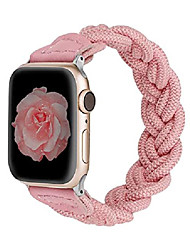 cheap -wearlizer compatible with apple watch bands 42mm 44mm slim elastic braided women loop strap wristband stretchy woven replacement bracelet accessories for iwatch series se 6 5 4 3 2 1 (pink, l)