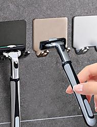 cheap -Punch Free Razor Holder Storage Hook Wall Men Shaving Shaver Shelf Bathroom Razor Rack Wall Bathroom Accessories