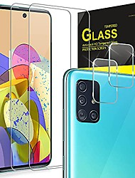 cheap -Phone Screen Protector For SAMSUNG Galaxy A52 Galaxy A72 A51 Galaxy A71 Tempered Glass 2 pcs High Definition (HD) Ultra Thin Scratch Proof Front Screen Protector Phone Accessory
