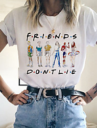 cheap -Inspired by Stranger Things Cosplay Anime Cartoon Polyester / Cotton Blend Print Harajuku Graphic Kawaii T-shirt For Women's / Men's