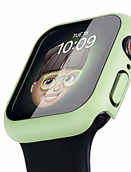 cheap -Smart watch Case  solid color case for apple watch 6 5 4 3 se case, hard full coverage protective bumper with tempered glass screen protector face cover for women men for iwatch 38/40/42/44mm (42mm)