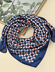 cheap -Women's Square Scarf Party Black Scarf Color Block Chiffon Fall Spring