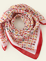 cheap -Women's Square Scarf Date Multi-color Scarf Color Block / Polyester