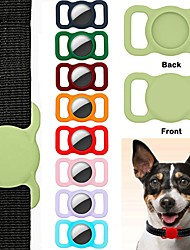 cheap -Pet Silicone Protective Case For Airtag GPS Finder Dog Cat Collar Loop For Apple Airtags Locator Tracker Anti-lost Device