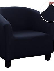 cheap -Stretch Club Chair Cover Slipcover Armchair Barrel Tub Chair Grey Black Plain Solid Soft Durable Washable