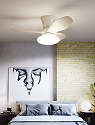 cheap -LED Ceiling Fan Light Modern Black White 80 cm Dimmable ABS Artistic Style Vintage Style Modern Style Painted Finishes Nature Inspired Modern 220-240V 110-120V
