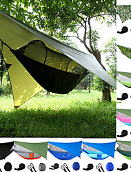cheap -Camping Hammock with Pop Up Mosquito Net Hammock Rain Fly for 2 person 290*140cm Outdoor Portable Windproof Sunscreen UV Resistant Anti-Mosquito Parachute Nylon with Carabiners and Tree Straps