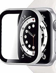 cheap -compatible with apple watch series 3/2/1 case 38mm impact resistant apple watch aluminium bumper case with screen tempered glass, no bubble protective case for apple watch(silver)