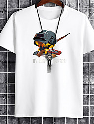 cheap -Men's Unisex Tee T shirt Hot Stamping Graphic Prints Soldier Letter Plus Size Print Short Sleeve Casual Tops Cotton Basic Fashion Designer Big and Tall White Black Khaki