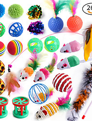 cheap -26PCS Interactive Toy Ropes Cat Toys Set Cat Pet Exercise Releasing Pressure Plastic & Metal Gift Pet Toy Pet Play