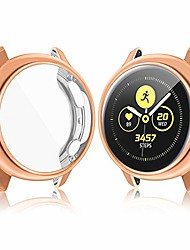 cheap -vanjua hd case compatible with samsung galaxy watch active 2 screen protector case 44mm 40mm, soft tpu bumper full around cover for samsung galaxy watch active 2 40 44 (rose gold, 40mm)