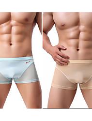 cheap -Men's Basic Sexy Panties Boxer Briefs High Elasticity Low Waist 2 Pieces Multi color M