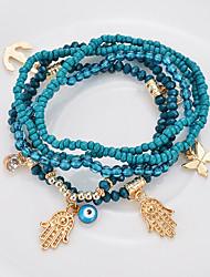 cheap -fashion  summer multi-layer beaded bracelet palm butterfly buddha heart bracelet
