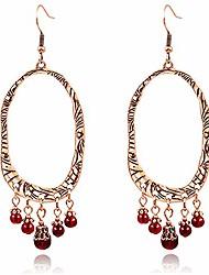 cheap -zrosse boho ethnic red acrylic tassel earrings for women indian jewelry vintage bohemian geometric golden metal wedding drop earrings gifts (style-2)