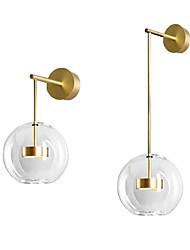 cheap -LED Wall Lamp Bedside Light Nordic Bubble Model Room Hotel Bedroom Glass Ball Wall Lamp Bedroom Bedside Wall Lamp