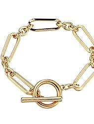 cheap -ornapeadia gold bracelets for women girls 14k gold plated dainty link chain paperclip choker cuff bracelet set adjustable layered metal link bracelet style 3