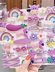cheap -14 Pcs/set Baby Hair Clip Set Princess Candy Color Hair Accessories Cute Flower Animal Hairpin Children's Hairpin Set