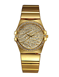 cheap -Missfox quartz watch waterproof alloy diamond-studded high-end casual women's steel band watch