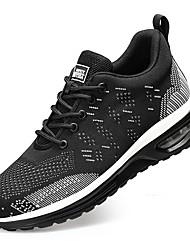 cheap -Steel Toe Cap Safety Shoe Sports Flyknit Air Cushion Sneakers Slip Resistant Work shoes Men Women Black