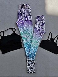 cheap -Mommy and Me Purple Gradient Print  YOGA Sets(Included Tank Top and YOGA Pants)