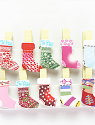 cheap -A Set Of 10 Color Photo Clips Love Photo Clips Photo Clips Message Clips Nook Clips