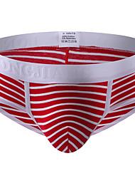 cheap -Men's Basic Print Boxers Underwear Low Waist 1 PC Blue S
