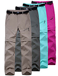 cheap -Women's Convertible Pants / Zip Off Pants Hiking Pants Trousers Summer Outdoor Water Resistant Quick Dry Multi Pockets Lightweight Nylon 2 Zipper Pocket Pants / Trousers Bottoms Army Green Fuchsia