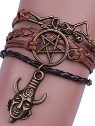 cheap -Women's Bracelet Geometrical Heart Stylish Simple Boho Plastics Bracelet Jewelry Brown For Daily Promise