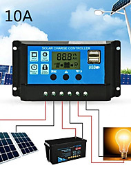 cheap -Solar Charge Controller for Lead-Acid Batteries with LCD and Auto Output Regulator 10A 12V 24V Solar Charge Controller not for Lithium