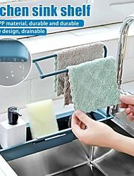 cheap -Kitchen Sink Drain Rack Creative PP Gel Drainage Rack Tableware Sponge Soap Drying Telescopic Sink Holder Storage Drain Basket