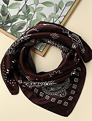 cheap -Women's Square Scarf Party Black Scarf Graphic