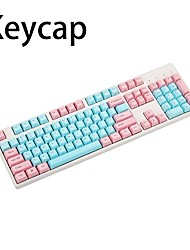 cheap -87/104 Keys PBT Miami Double Color Backlight Keycap Universal Column For Ikbc Cherry MX Annie Mechanical Keyboards