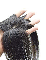 cheap -Women's Human Hair Toupees Straight Machine Made Soft / Party / Women Party / Evening / Daily Wear / Vacation