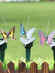 cheap -2PCS Plastic Solar Powered Flying Butterfly Bird Sunflower Yard Garden Stake Ornament Potted Plant Decoration Accessories