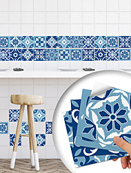 cheap -10 PCS European Style Hard Tile Self-adhesive Paper Monaco Kitchen Oil-proof And Waterproof Removable Wall Stickers