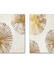 cheap -2 Panels Wall Art Canvas Prints Painting Artwork Picture Gold Abstract Home Decoration Decor Rolled Canvas No Frame Unframed Unstretched