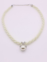 cheap -Women's Necklace Imitation Pearl White 41 cm Necklace Jewelry For